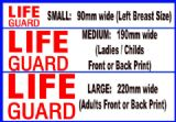 D.I.Y LIFE GUARD IRON ON DECAL 07